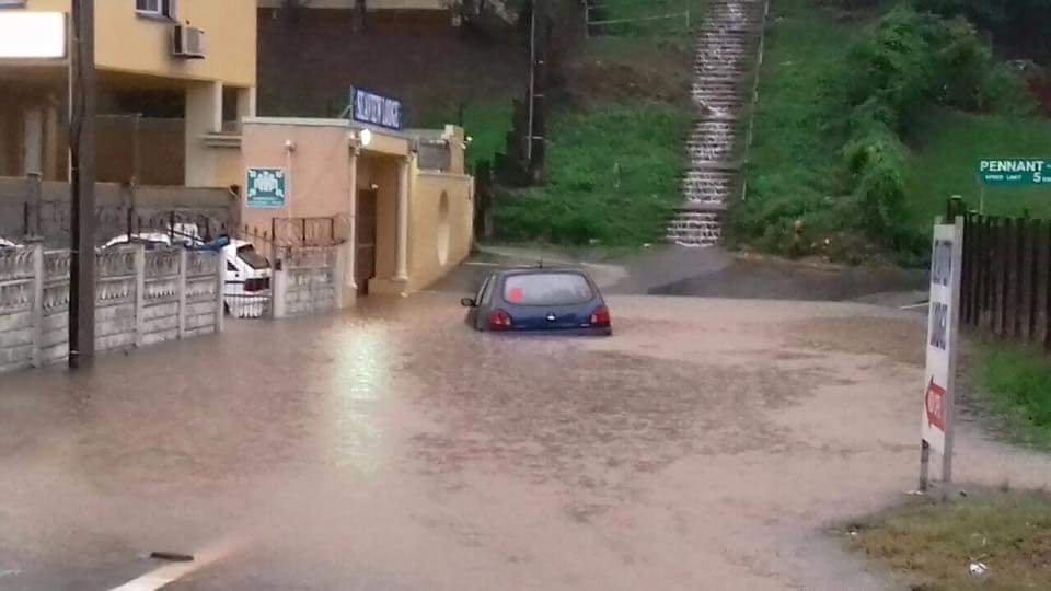 Floods Cause Damage in Durban - Pic Credit: Arrive Alive twitter @_ArriveAlive